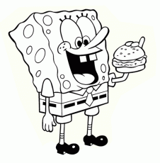 Spongebob Squarepants Free Printable Coloring Pages - Coloring