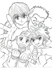 Coloring pages Hunter x Hunter. Print ...wonder-day.com