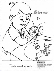 Draw A Face On The Germ Coloring Page  Coloring Home