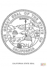 Usa printables state of california coloring pages for Arizona state seal coloring page