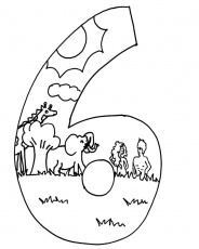 free printable bible creation coloring pages. creation day 6 ...