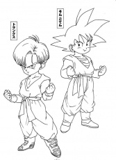 dragon ball z coloring pages bardock meets chi best coloring