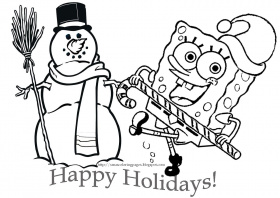 Spongebob Christmas Coloring Pages (19 Pictures) - Colorine.net | 8652