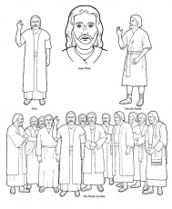 coloring pages of apostles