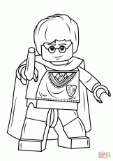 Lego Harry Potter with Wand coloring page | Free Printable ...