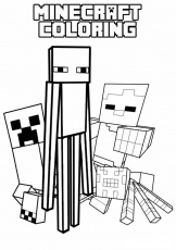 minecraft colouring pages