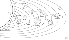 Solar System For Kids - Coloring Pages for Kids and for Adults
