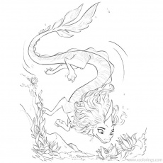 Raya And The Last Dragon Coloring Pages Sisu Under the Water -  XColorings.com