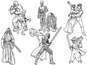 Star Wars Coloring Pages and Book | UniqueColoringPages
