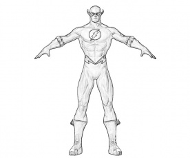 The Flash Superhero Coloring Page