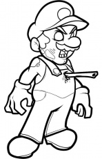 Zombie Mario Coloring Page | things to color! | Pinterest ...