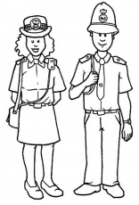 Police Officer Coloring Pages | Clipart Panda - Free Clipart Images