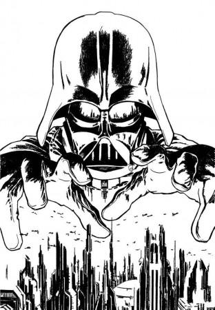Lego Darth Vader Printable Star Wars Coloring Pages VoteForVerde