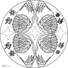 11 Pics of Free Printable Butterfly Mandala Coloring Pages ...