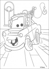 Cars coloring pages - Red the fire truck
