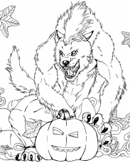 Werewolves coloring pages