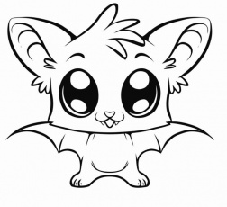 Baby Wolf With Wings Coloring Pages - Coloring Pages For All Ages