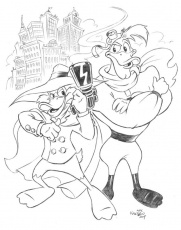 Darkwing Duck and Launchpad by KneonT on DeviantArt