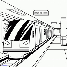 Subway coloring pages