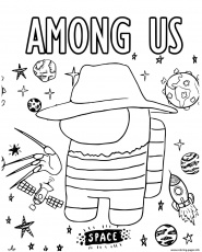 Freddy Krueger Among Us Coloring Pages Printable