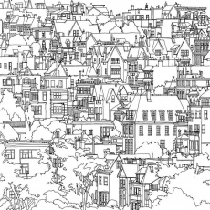 Adult Coloring Book Dream Cities On