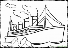 titanic coloring pages for kids and for adults