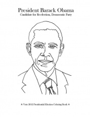 Barack Obama Coloring Page Printable. president 01. barak obama ...