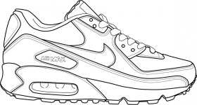Download or print this amazing coloring page: shoe coloring sheet | Sneakers  sketch, Nike drawing, Sneakers drawing