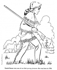 free printable daniel boone coloring pages for kid history for