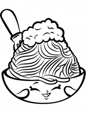 Lovely Pasta Coloring Page - Free Printable Coloring Pages for Kids