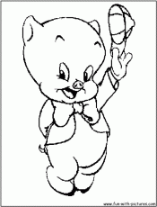 Porky Pig Coloring Coloring Pages 231029 Pig Coloring Pages For Kids