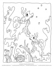 Printable Cartoon Coloring Pages Seahorse Seadragon,Echo's Cartoon