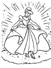 Revolution Of Cinderella Disney Coloring Pages - Princess Coloring