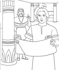 jose ante faraon Colouring Pages
