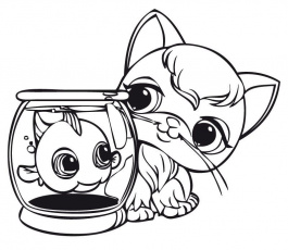 Littlest Pet Shop Coloring Pages for Kids - Free Printable