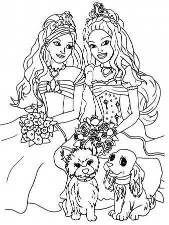 Princess Barbie Printables Coloring Pages