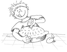 little jack horner coloring page