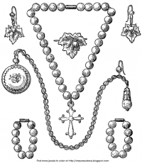 Crayon Palace: Pearl Jewelry Coloring Page