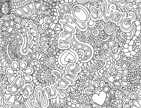Complex Coloring Pages for Adults - Printable Kids Colouring Pages
