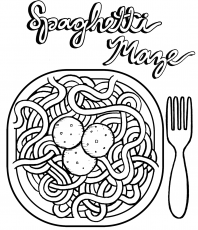Top Dozens Spaghetti Coloring Pages for Children - Coloring Pages