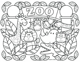 Medium Coloring Pages Mandala Printable Zoo Animal – socialreview