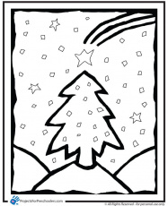 Free Printable christmas tree coloring page - from