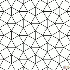 Tessellation with Triangle and Square Tiling coloring page | Free ...