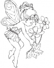 fairy coloring pages for adults - Printable Kids Colouring Pages