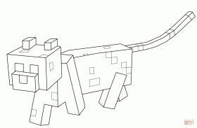 Minecraft Ocelot coloring page | Free Printable Coloring Pages