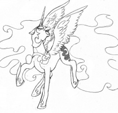 Little Pony Nightmare Moon Coloring Pages Colorine Net 2663 Coloring Home