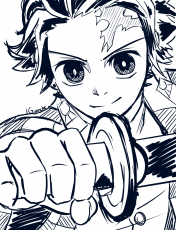 Tanjiro coloring pages