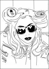 album lady gaga coloring pages color printingsonic coloring