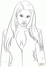 Nicki Minaj Coloring Page