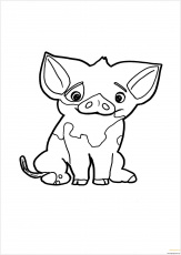 Pua Pig From Moana 6 Coloring Pages ...coloringpagesonly.com